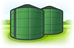 Illustration of the AD Plant tanks at Shropshires